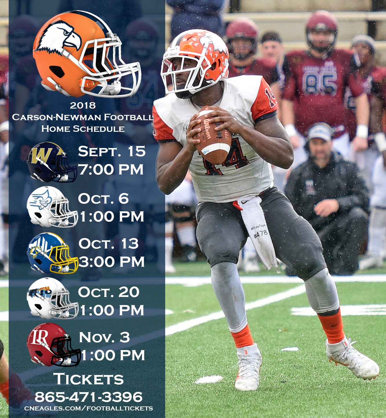 Season tickets on sale for 2018 Carson-Newman football schedule