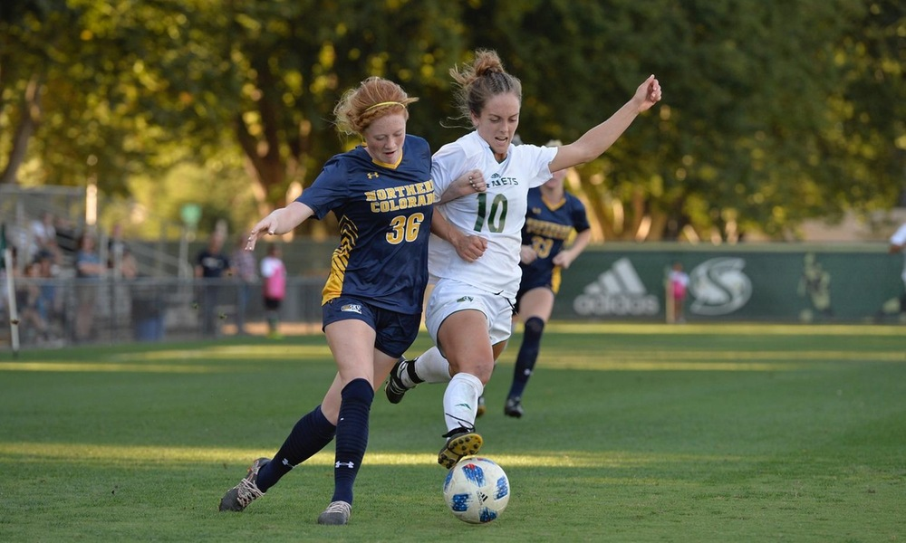 PROTHE SCORES FOURTH GOAL, BUT WOMEN'S SOCCER FALLS, 3-1, TO NORTHERN COLORADO