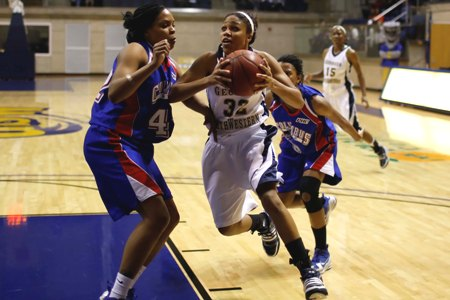 Lady 'Canes drop tight contest with Columbus St., 64-57