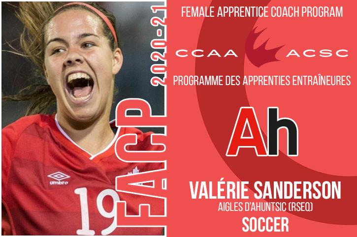 Programme des apprenties entraîneures de l'ACSC : Sanderson