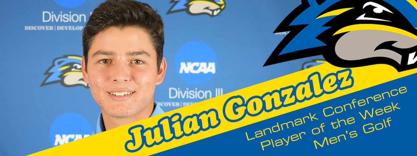 Four Of A Kind: Julian Gonzalez Named Landmark Conference Men's Golf Player Of The Week For Fourth Time