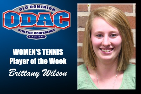 Wilson Picks Up Women's Tennis Player of the Week Nod
