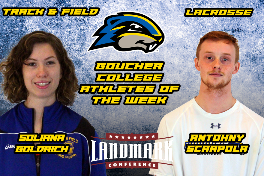 Goldrich and Scarpola Named Goucher College Athletes of the Week