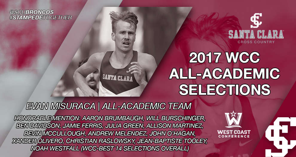 Misuraca Named to WCC All-Academic Team; Bronco Cross Leads Conference with 14 Selections