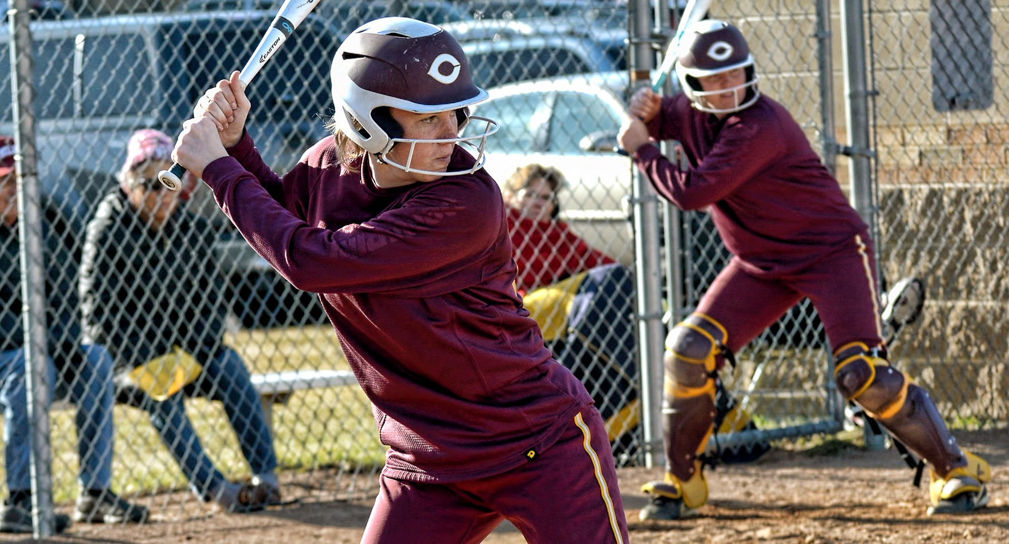 Freshman Megan Gavin had a solo home run in the first game at Carleton and had hits in both games of the Cobbers' DH with the Knights.