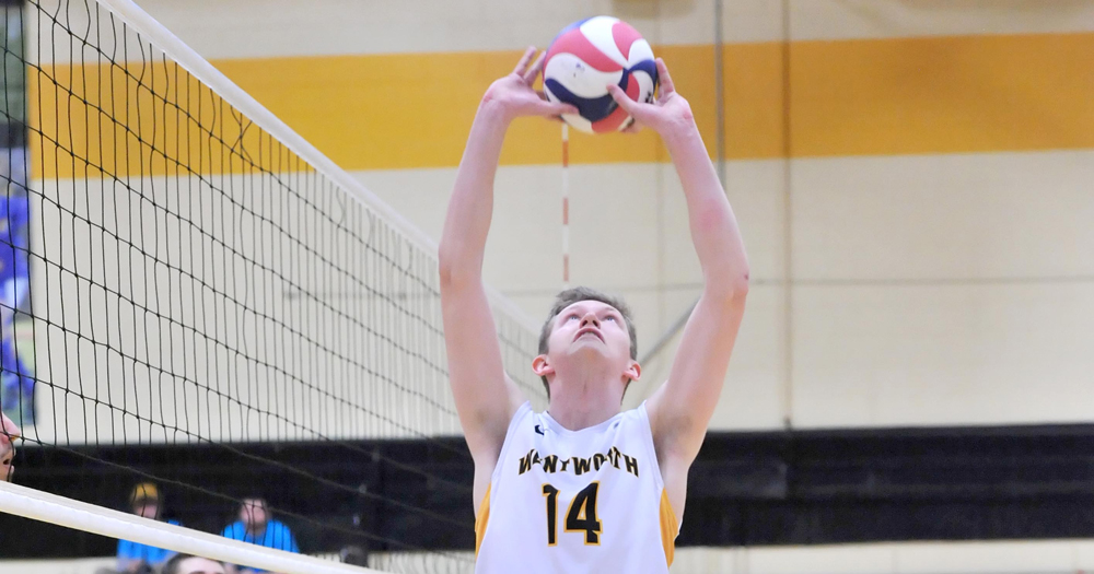 First Years Propel Men's Volleyball to Sweep over Newbury