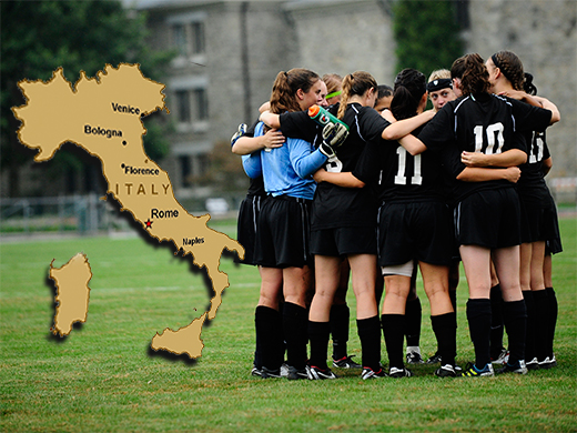 Grazie Italia! Women's soccer returns from abroad