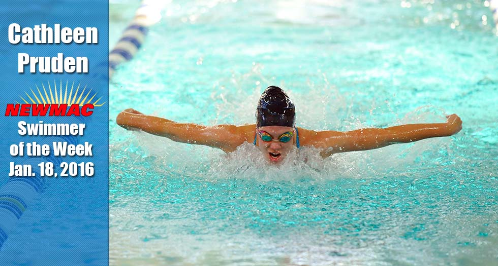 Pruden Earns Swimmer of the Week Honor
