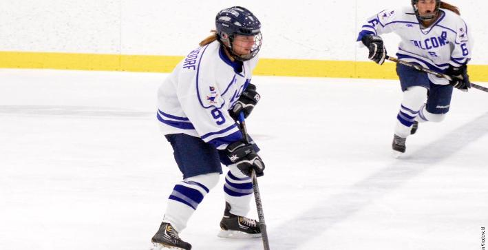 Women's Hockey falls in high scoring affair against Saint Benedict