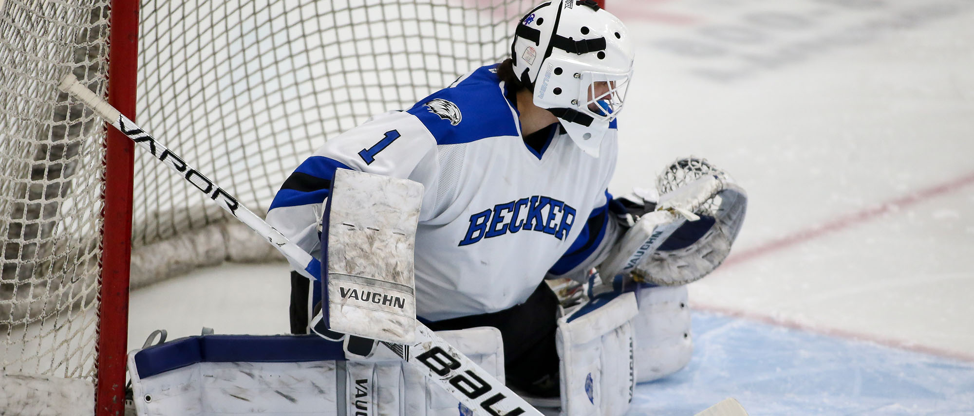 Madison Rigsby made 42 saves in a 1-0 loss to the University of New England on Saturday.
