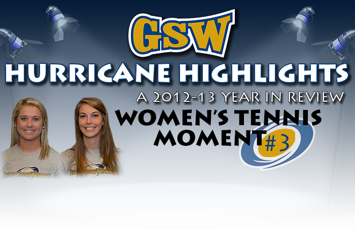 GSW Women's Tennis Hurricane Highlight #3: Jones, Ondo Tie Conference Wins Record