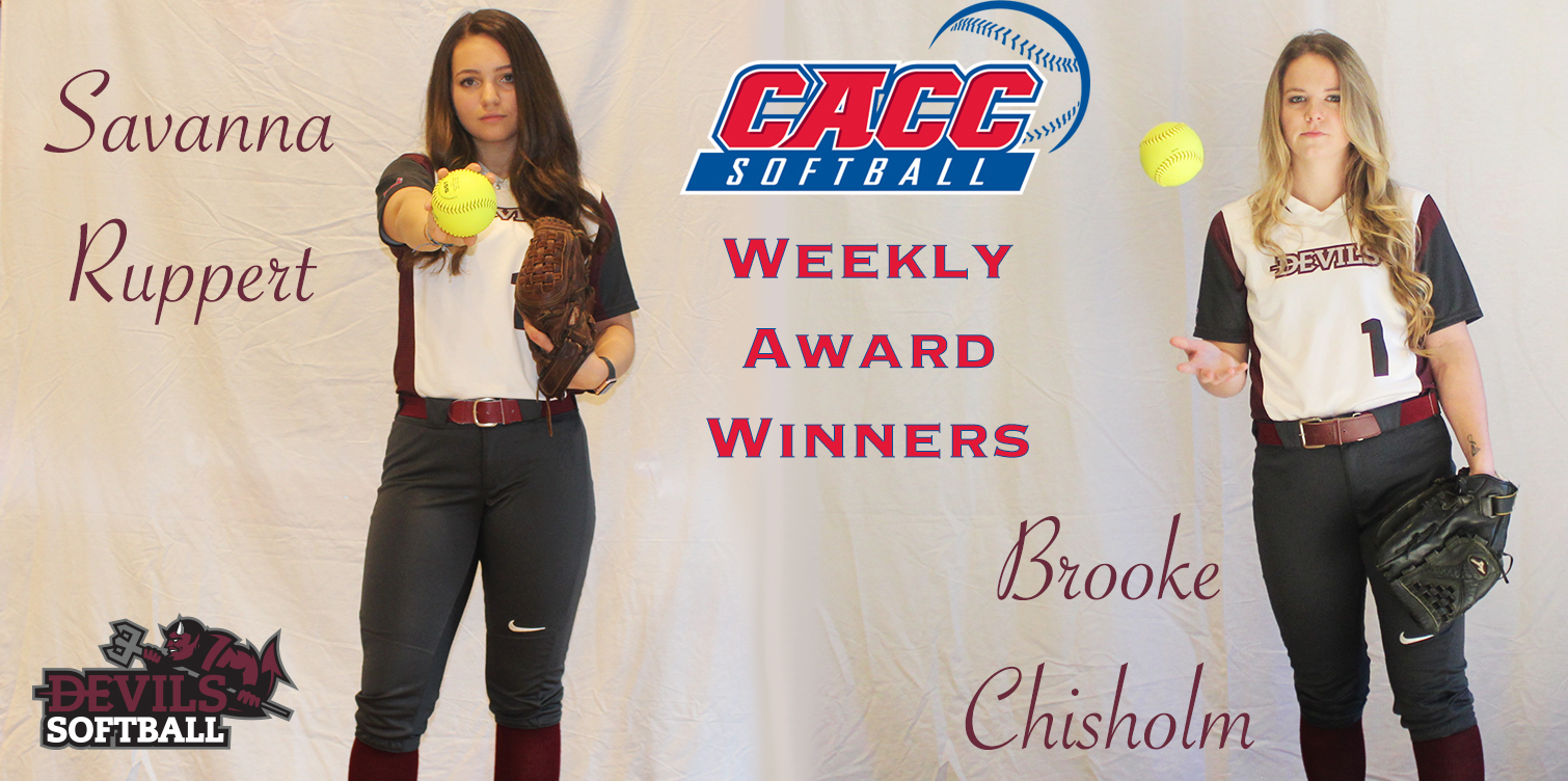 Softball Receives Two-of-Three Weekly Awards from CACC After Opening Weekend