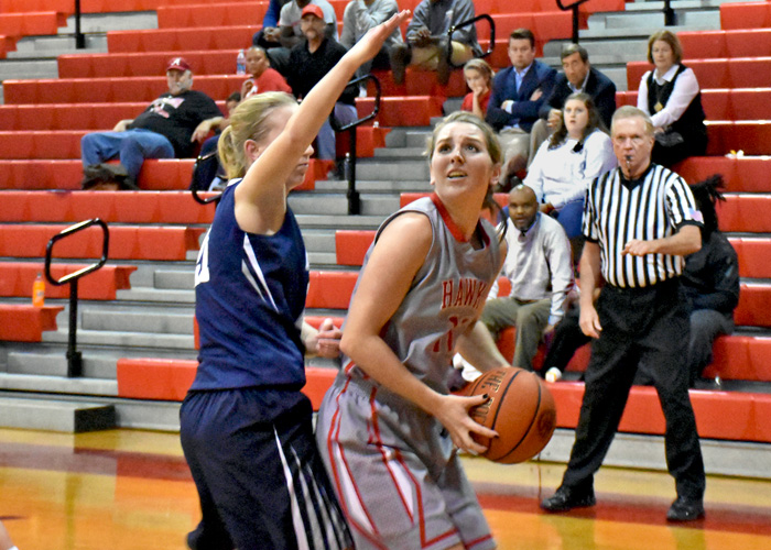 Jenna Dorman scored 13 points in Wednesday's loss at LaGrange. (Photo by Wesley Lyle)