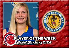 Courtney Carlson-Western New England, Women's Basketball: Player of the Week