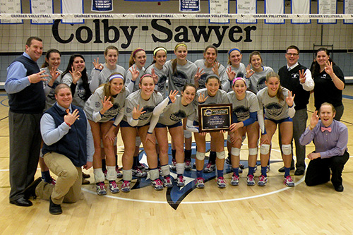 Colby-Sawyer College, 2013 Volleyball Champions