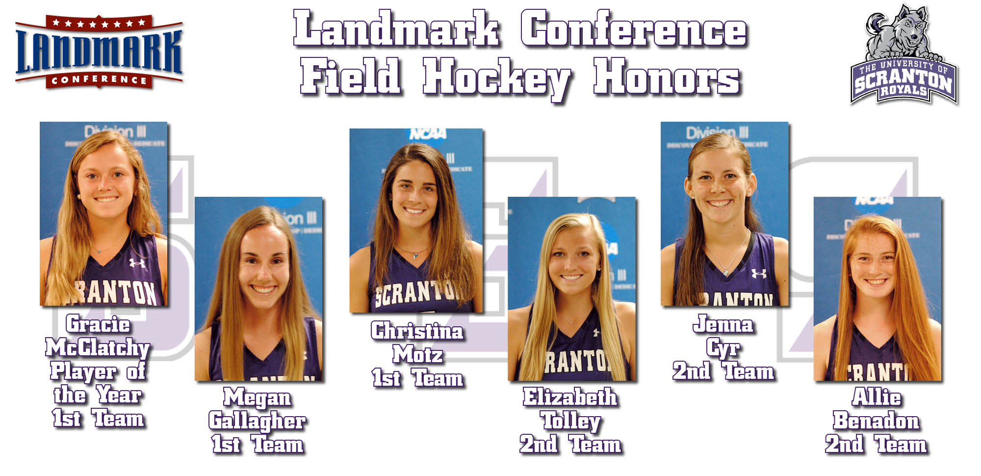 McClatchy Named Landmark Conference Player of the Year to Highlight Seven Year-End Awards for Field Hockey