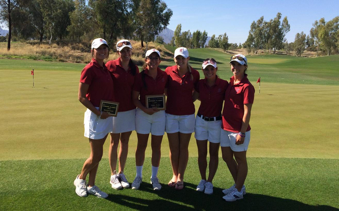 Women's Golf Places Second; Freman Wins Scorecard Playoff For Individual Trophy At Cowgirl Classic