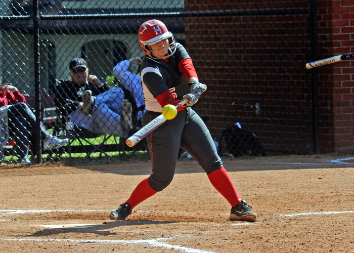 Tiffany Taylor had two hits and two RBIs, including a solo home run, in Wednesday's doubleheader at Agnes Scott.