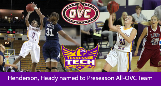 Tech duo named to Preseason All-OVC team; Golden Eagles picked first in east