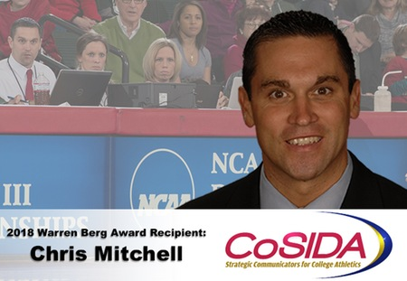 Chris Mitchell of Washington University Recognized as CoSIDA's 2018 Warren Berg Recipient