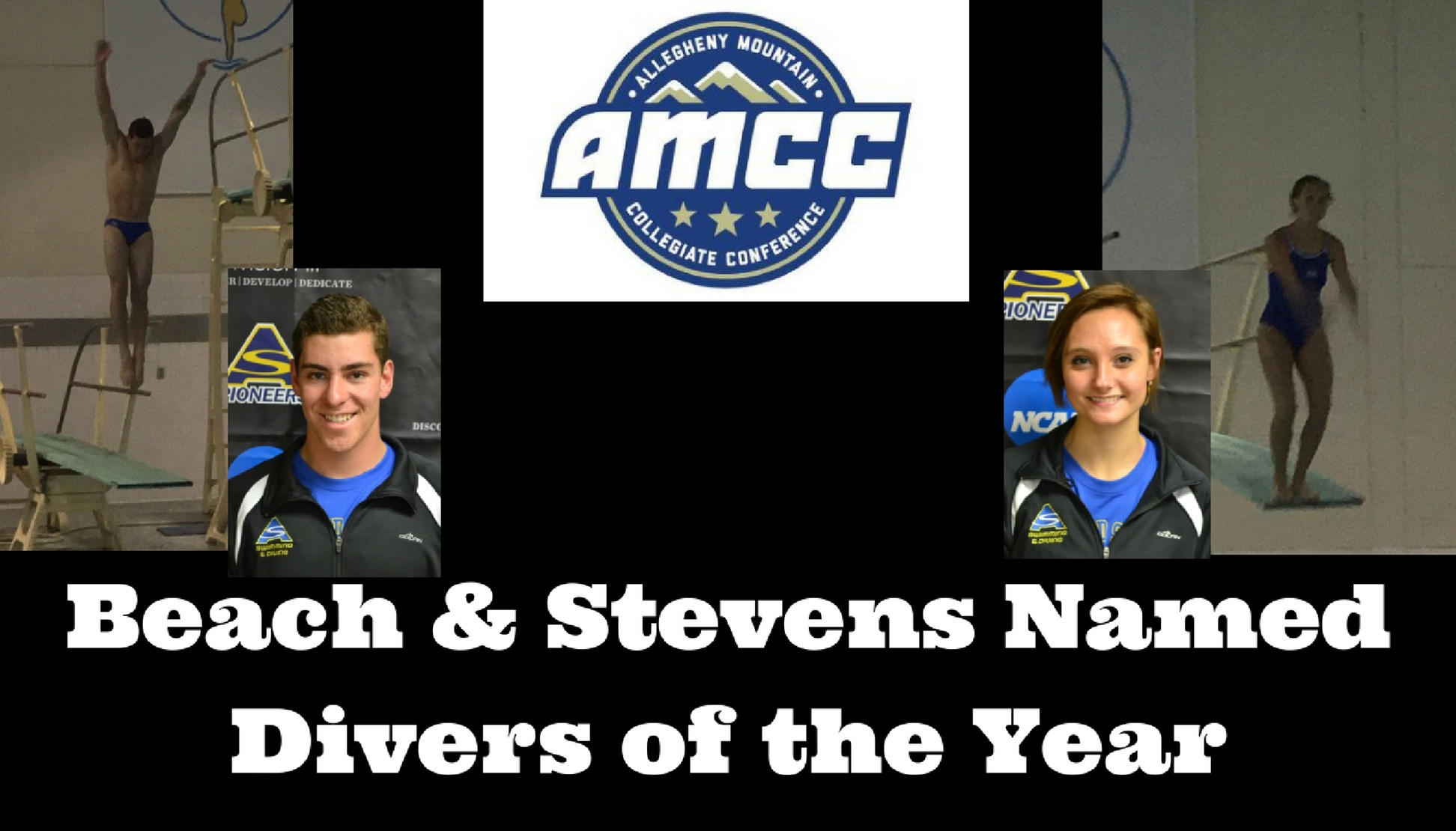 Beach and Stevens Named AMCC Divers of the Year