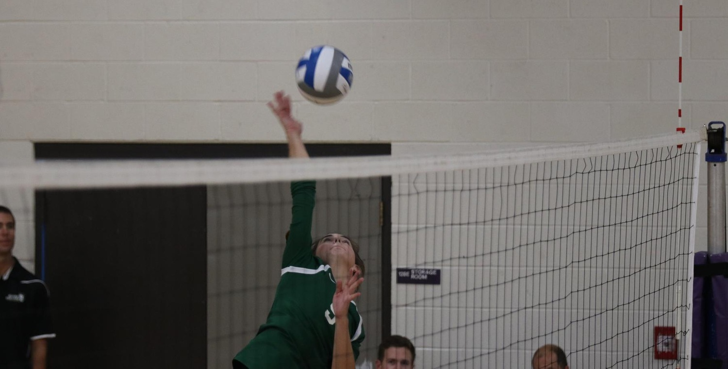 Grace Allen (9) tied for the team lead with 12 kills on Wednesday