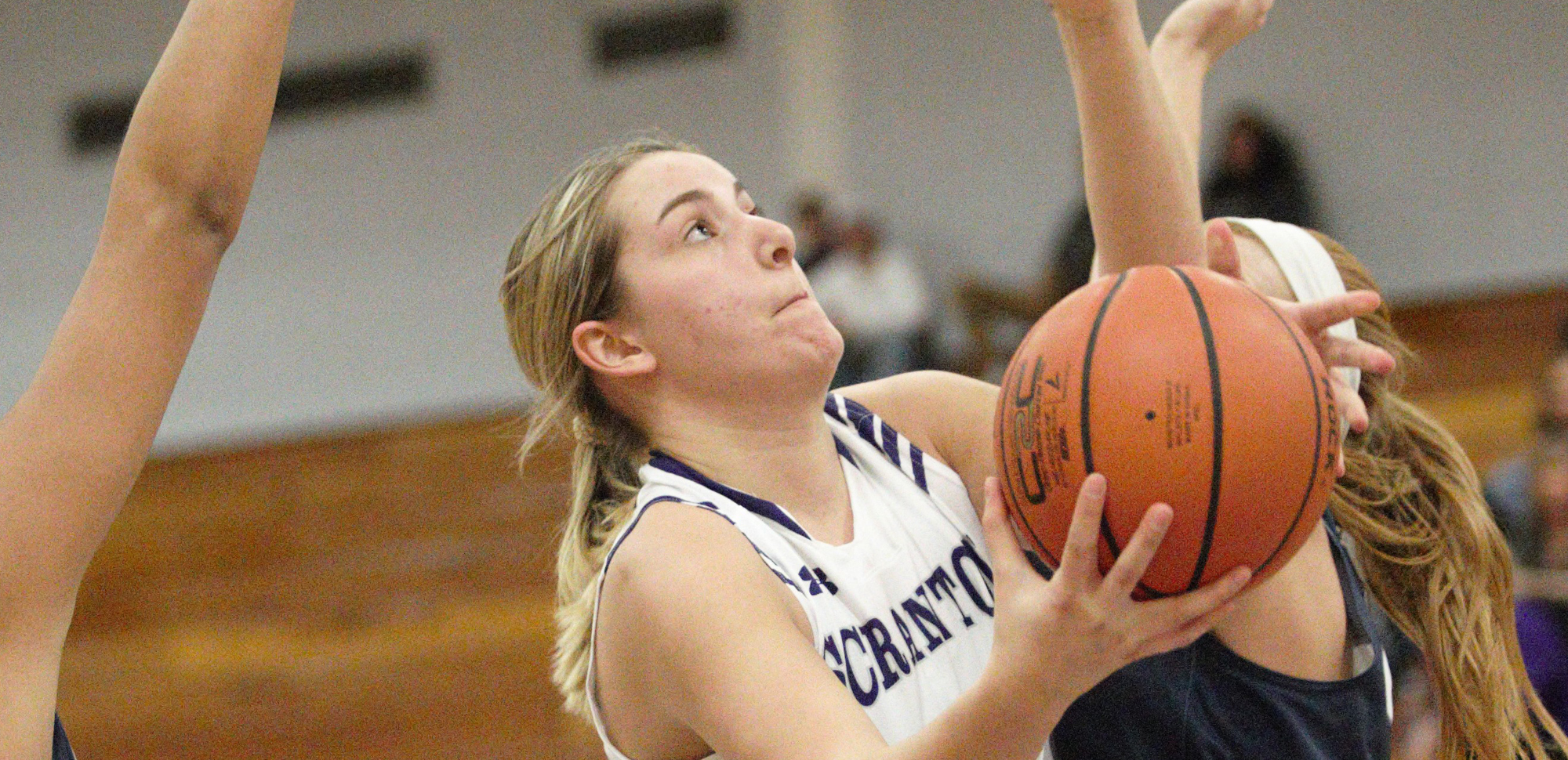 Sofia Recupero recorded 10 points, six rebounds, and two blocks in Scranton's win over Moravian on Wednesday night.