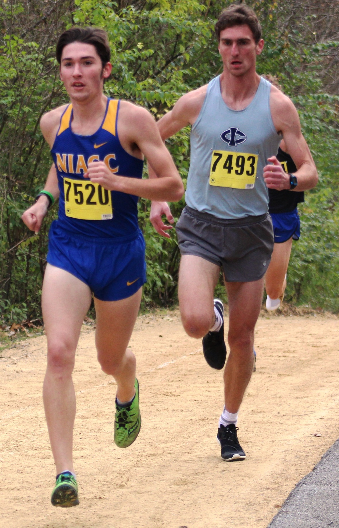 NIACC's Gavin Connell runs at the regional meet in Bettendorf on Oct. 26.