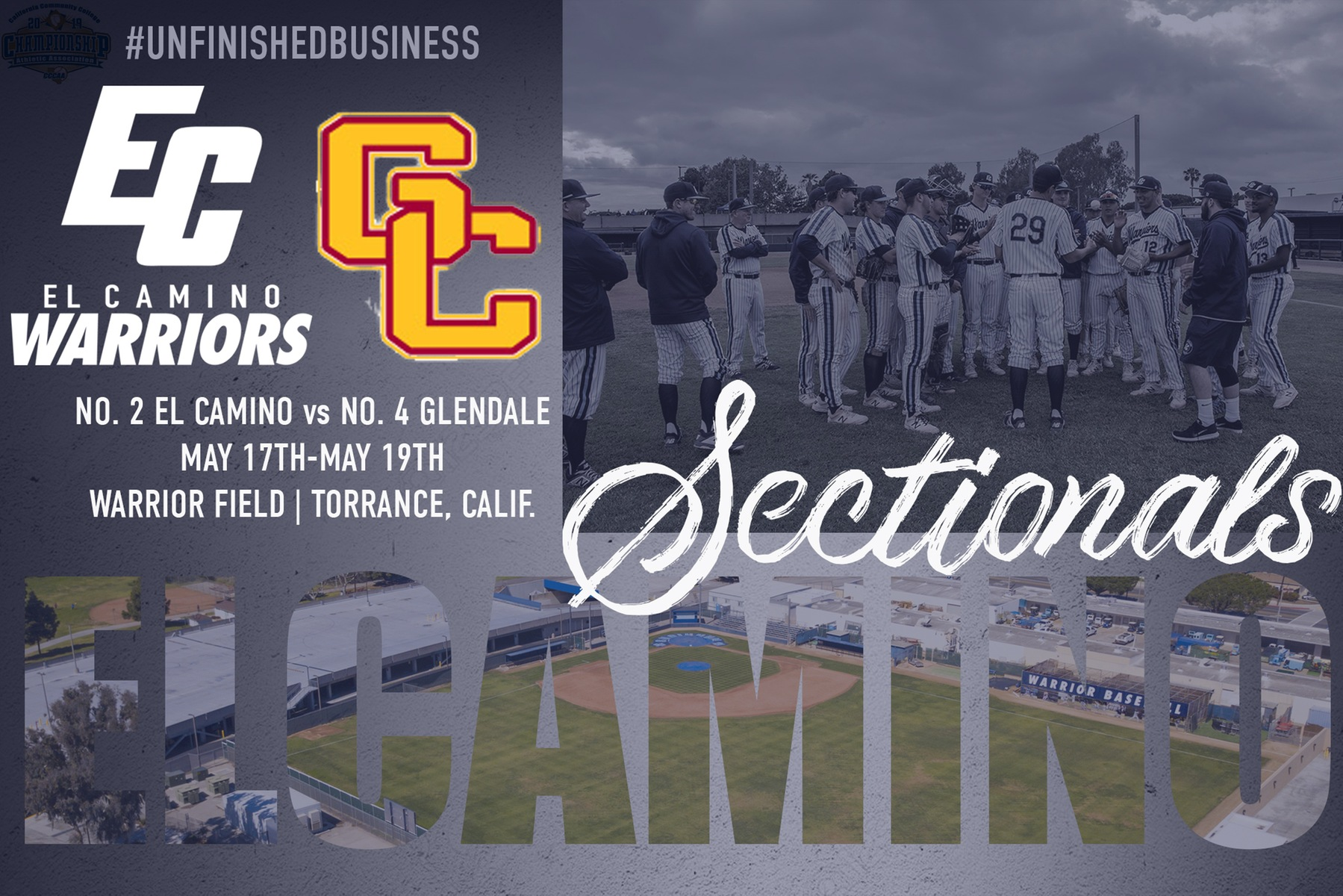 Baseball Hosts Glendale For CCCAA Southern California Sectional Finals