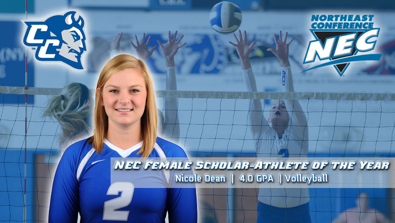 Volleyball's Nicole Dean Named NEC Female Scholar-Athlete of the Year