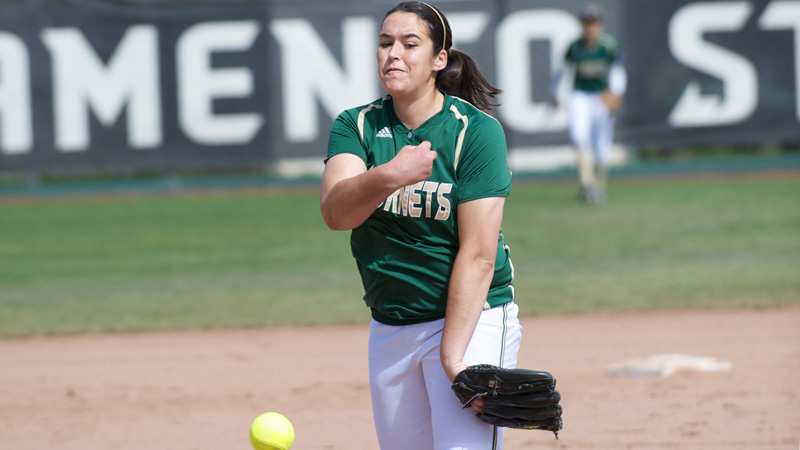 SOFTBALL RIDES BROOKS' ARM TO WIN OVER UC DAVIS, FINISHES FRESNO STATE TOURNEY 3-2
