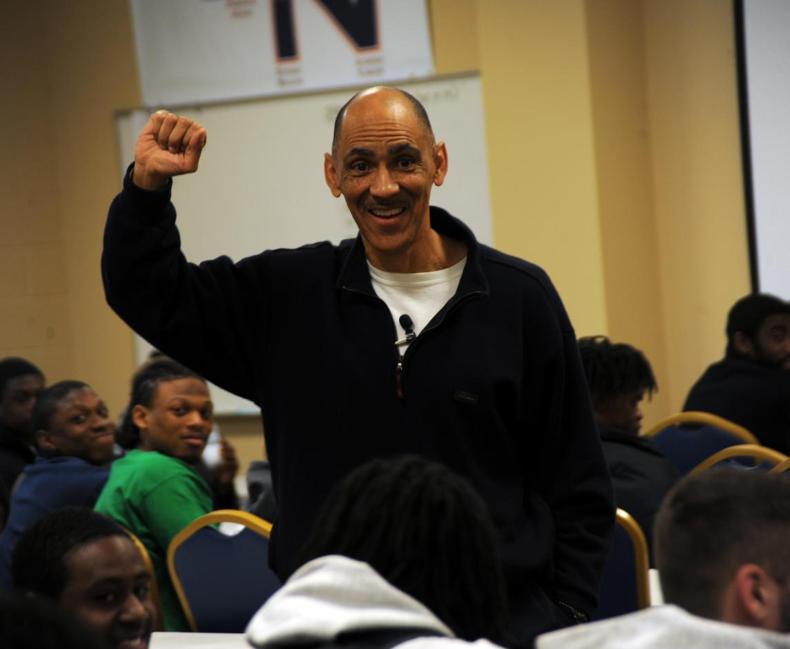 "Dungy message to C-N football: ""It's what you do in the long run that counts."""