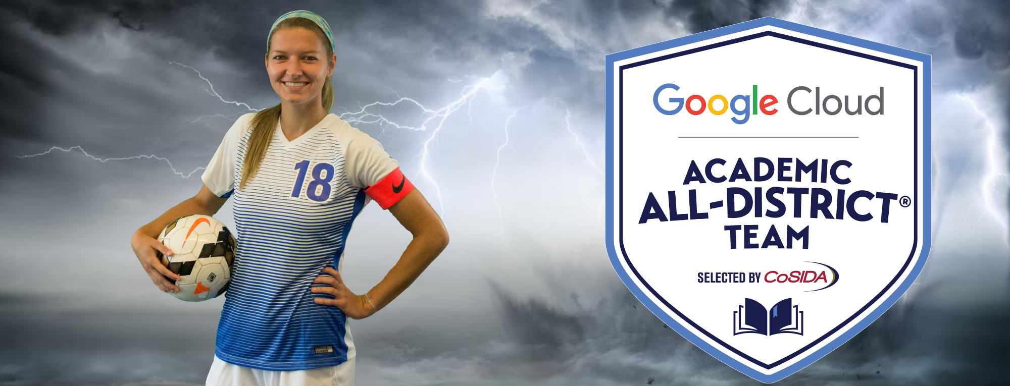 Ashley Hughes of Brevard College Named Google Cloud Academic All-District