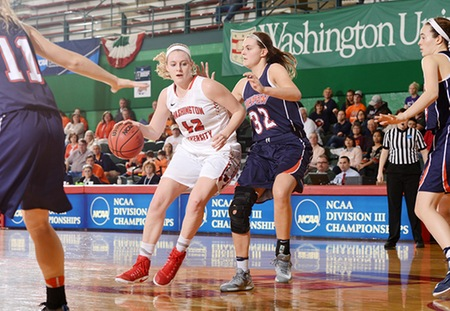 Madeline Homoly Pours in 26 to Lead Washington University Past Wheaton in NCAA Second Round