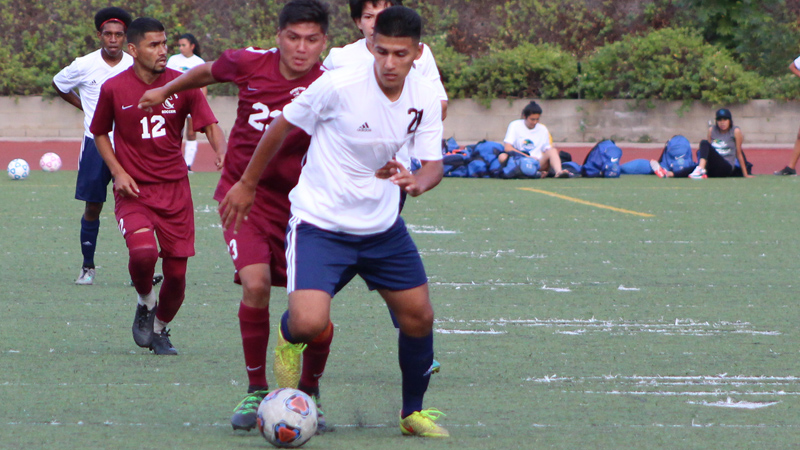 Freshman Joel Rosales scored his fifth of the year in Citrus win at Canyons.