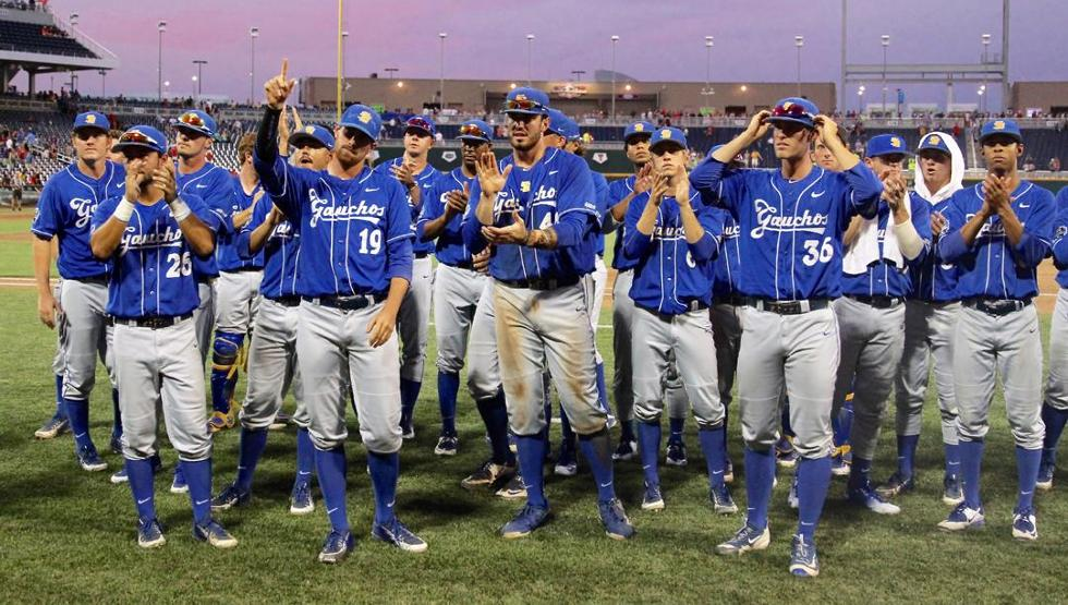 UCSB was eliminated from the CWS with a 3-0 loss to Arizona on Wednesday, ending a historic season (photo by Vic Neumann)