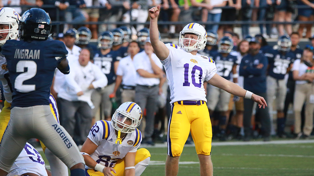 Madonia hits career-high four field goals in loss at FBS Utah State