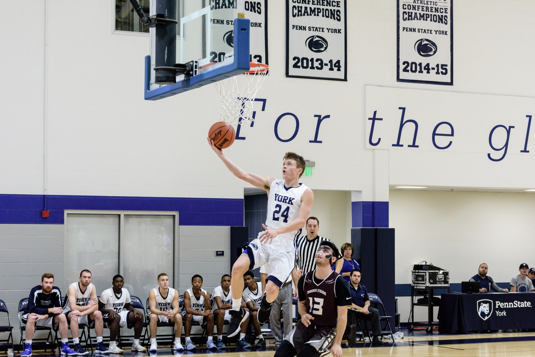 Jonny Sutton goes up for a layup in a game earlier this season.