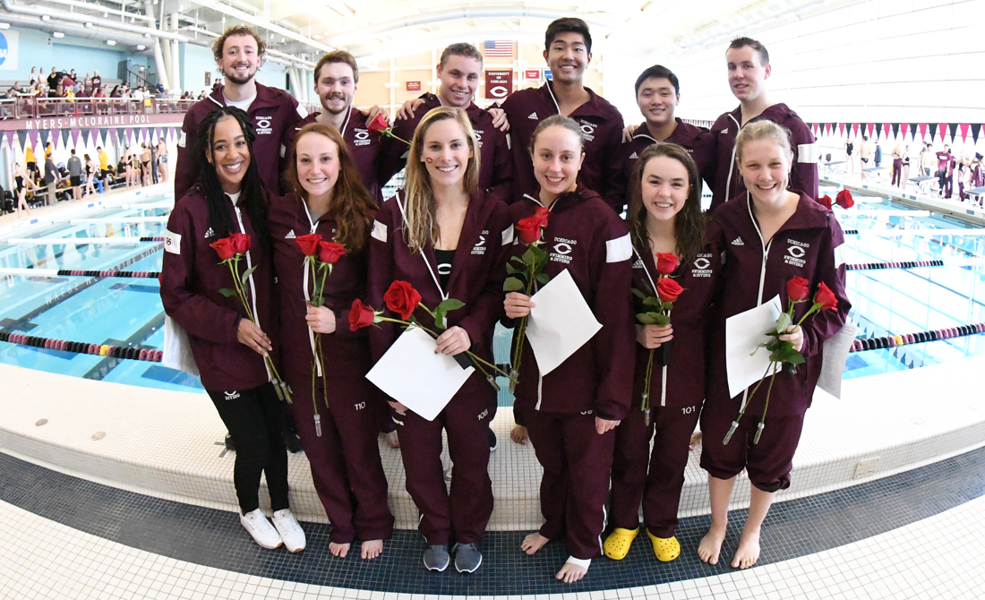 Swimming & Diving Excels in Senior Day Victories Over Calvin and DePauw