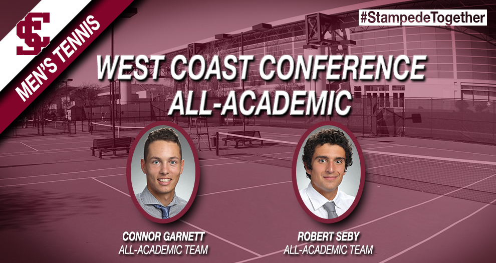 Garnett, Seby Recognized with WCC Men's Tennis All-Academic Honors