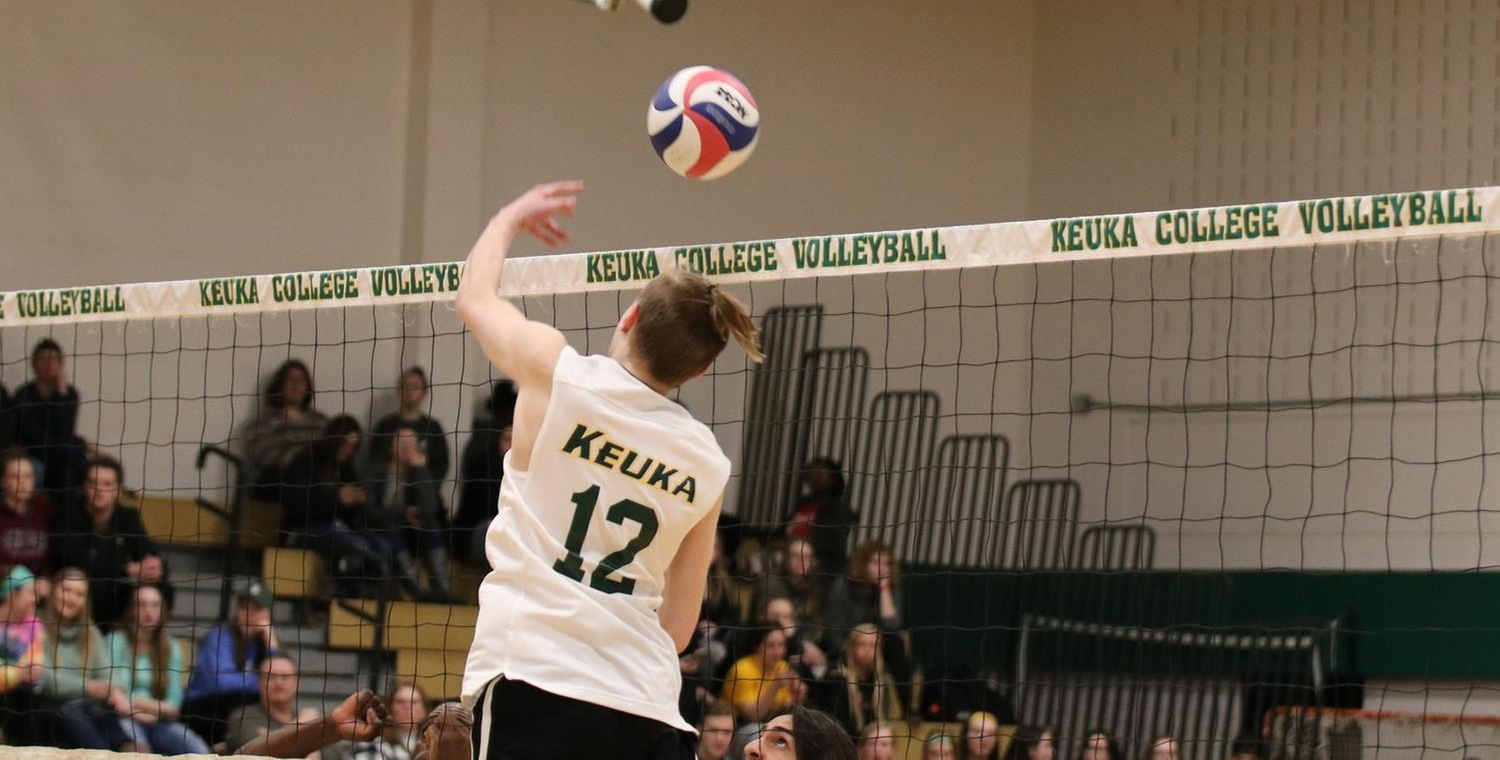 Kamren Record (12) had 35 assists and added two kills for the Wolves -- Photo by Shelby Lamb