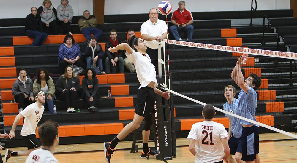 Men's volleyball topped 3-1 at Wittenberg