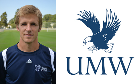 UMW Men's Soccer Assistant Coach Matt Lawrey Wins Double Goal Coach Award
