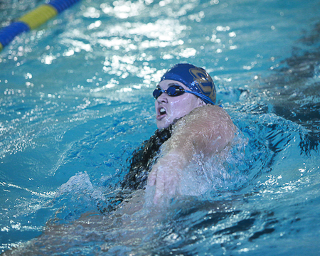 GU swimming teams hang tough with Frostburg St. in season opener