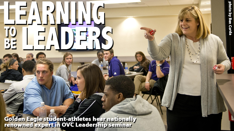 Golden Eagle student-athletes, staff learn what it takes to be a leader