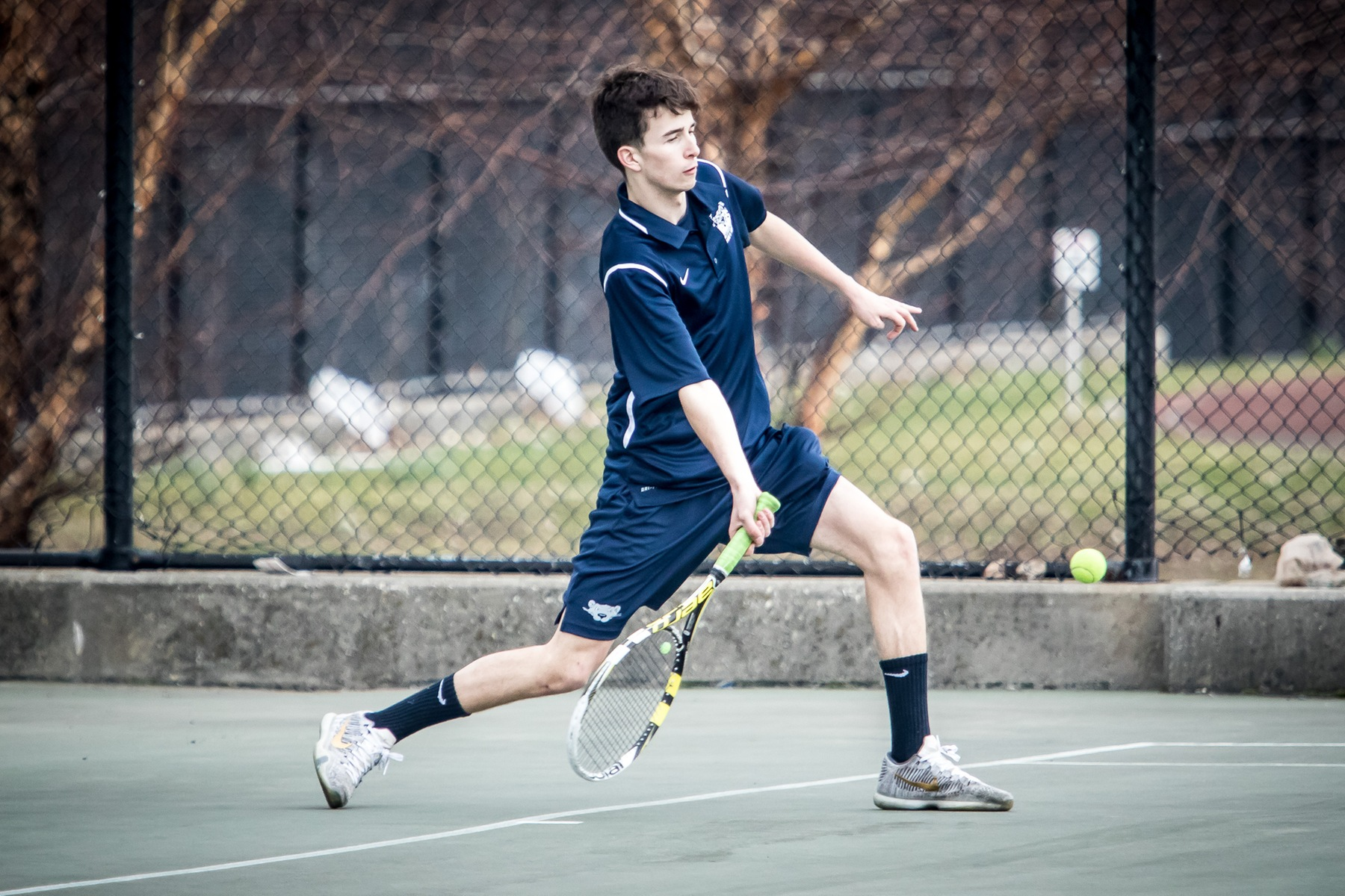 Smalley Wins Twice as Men's Tennis Battles Brooklyn College