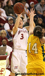 Cronk Tallies 1,000 Career Points As SCU Women's Basketball Defeats Washington State 62-52