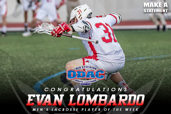 Lombardo Named Men's Lacrosse ODAC Player of the Week
