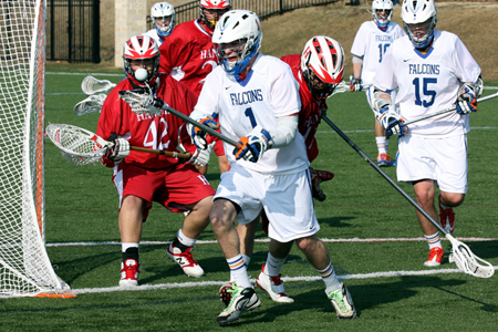 Men's Lacrosse snaps skid with dominating victory over Hanover