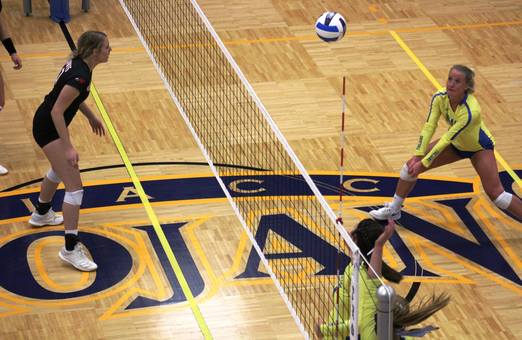 NIACC's Alexa Loftus waits to hit to dig the ball in Wednesday's win over Northeast CC.